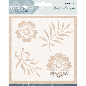Card Deco Essentials Stencil Big Leaves