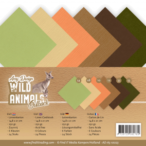 Linnenkarton A5 Amy Design  Wild Animals Outback 24vel