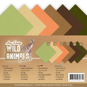 Linnenkarton 4K 13,5x27 24vel Wild animals outback Amy Design