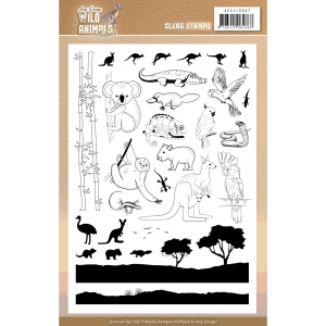 Clear Stamps Amy Design Wild Animals Outback