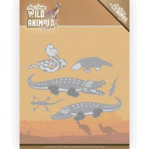 Amy Design Wild Animals Outback snijmal crocodile