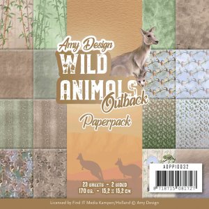 Paperpack 23vel 170gr 2sided van Amy Design Wild Animals Outback