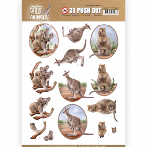 Amy Design 3D Pushout vel Wild Animals Outback Kangaroo