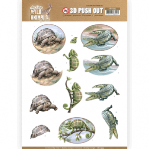 Amy Design 3D Pushout vel Wild Animals Outback reptiles