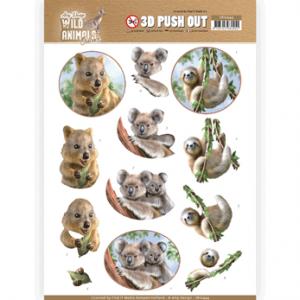 Amy Design 3D Pushout vel Wild Animals Outback Koala