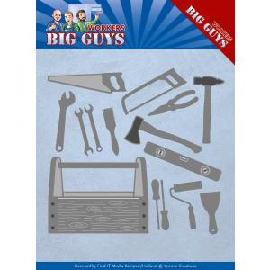 Yvonne Creations snijmal handyman tool serie Big Guys Workers