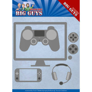 Yvonne Creations snijmal it's game time serie Big Guys Workers