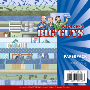 Yvonne Creations paperpack 23vel 170gr 2sided serie Big Guys Workers