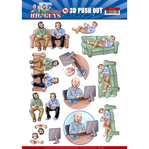 Yvonne Creations 3D uitdrukvel push out gaming serie Big Guys Workers