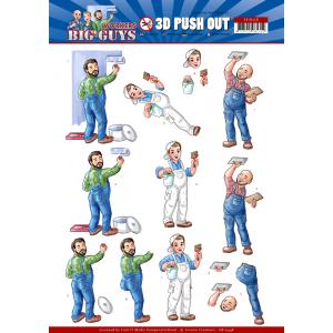 Yvonne Creations 3D uitdrukvel handyman serie Big Guys Workers