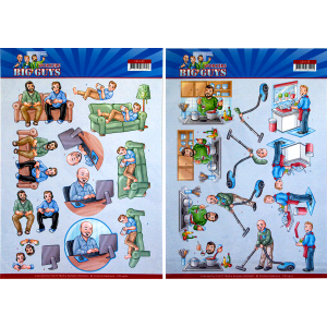 Yvonne Creations 3D knipvel big cleaning/gaming serie Big Guys Workers