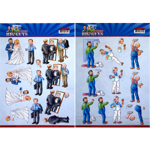 Yvonne Creations 3D knipvel handyman / well dressed serie Big Guys Workers