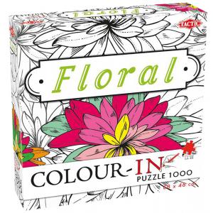 Legpuzzel colour-in Floral 1000 stukjes