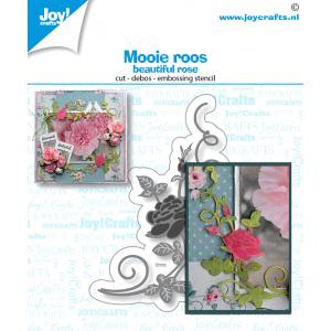 Joy Crafts stans-debos-embossingmal mooie roos serie mei 20