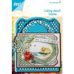 Joy Crafts stansmal van Noor Design blauwe ovaal & rechthoek serie mei 20