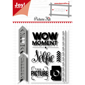 Joy Crafts scrap stansmal & stempels Picture kit van Noor Design serie mei 20