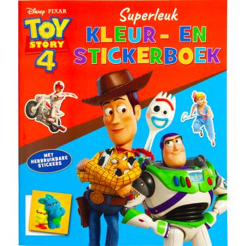 Toy story 4 kleur- en stickerboek