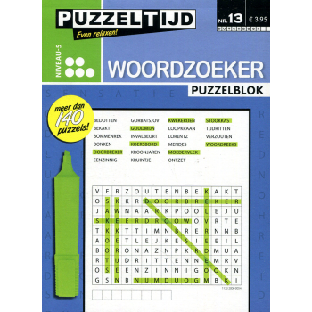 Puzzelblok woordzoeker 5 punt nr. 13 puzzeltijd