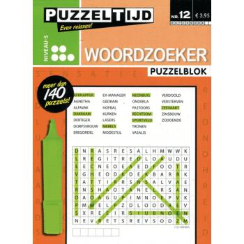 Puzzelblok woordzoeker 5 punt nr. 12 puzzeltijd