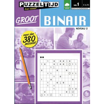 Puzzelboek Groot Binair 2 punten nr. 1