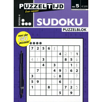 Puzzelblok sudoku 4 punt nr. 5 puzzeltijd