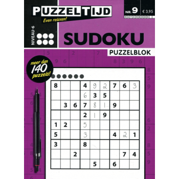 Puzzelblok sudoku 6 punt nr. 9 puzzeltijd