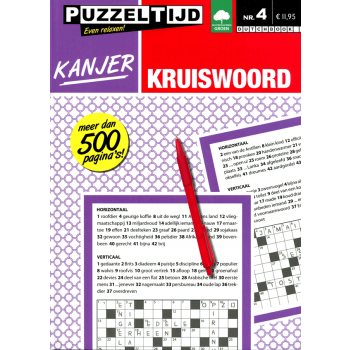 Puzzelboek kanjer kruiswoord nr. 004 Puzzeltijd