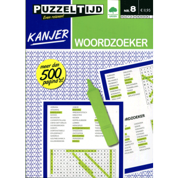 Kanjer woordzoeker puzzelboek nr. 008 Puzzeltijd