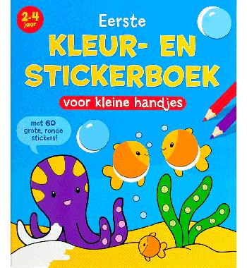 Superleuk Kleur- en Stickerboek voor de Allerkleinsten