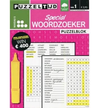 Puzzelblok Woordzoeker Special 5 punt nr 1