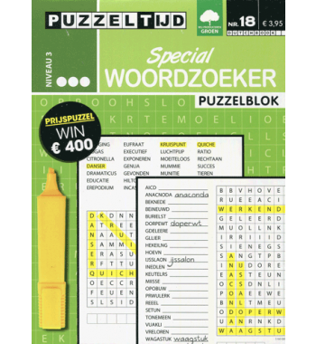 Puzzelblok Woordzoeker Special 3punt nr 18