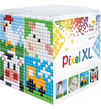 Pixel XL kubus set boerderij pixelhobby