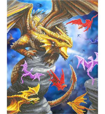 Framed crystal art kit dragon clan van Anne Stokes