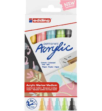 Edding acrylmarkers pastel 5st