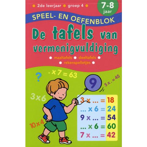Speel en Oefenblok 7 tot 8 Jaar De Tafels van Vermenigvuldiging
