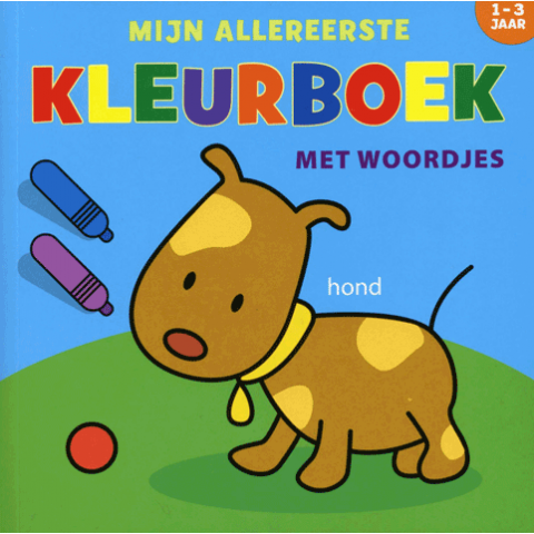 Mijn Allereerste Kleurboek met Woordjes