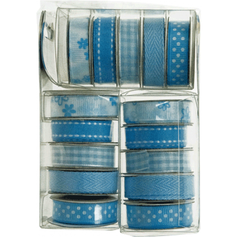 Premium deco ribbon koker Decolint blue