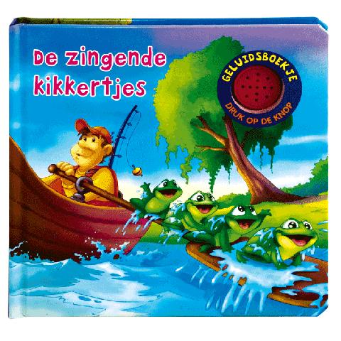 De zingende kikkertjes geluidsboek