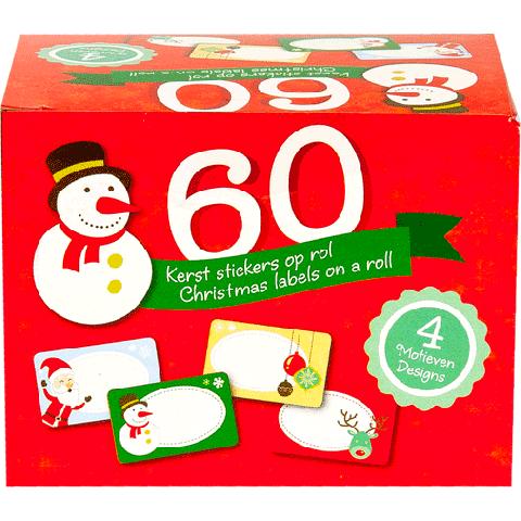 50 Kerstlabels op rol