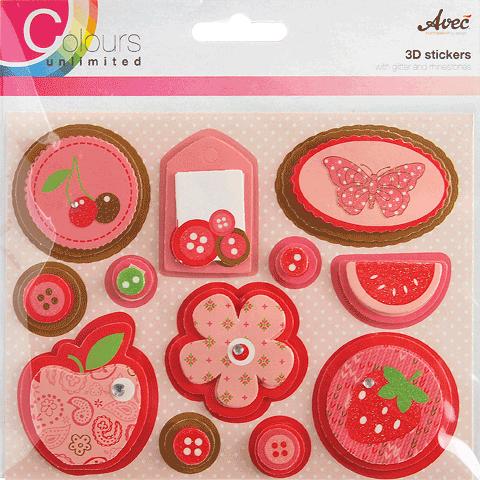 CU13 3D Stickers roze