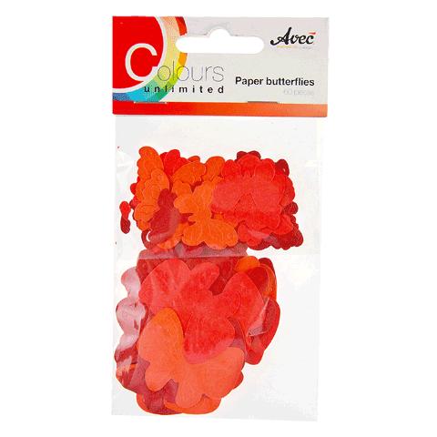 CU13 Papieren Vlinders Rood