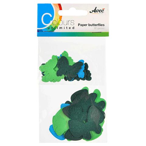 CU13 Papieren Vlinders Blauw-Groen