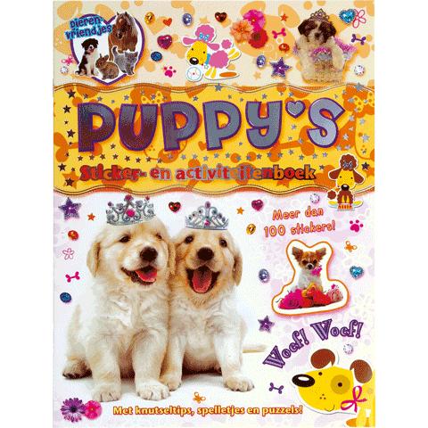 Dierenvriendjes Stickerboek Puppy's