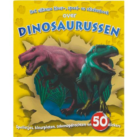 Ultieme kleur speel en stickerboek Dinosaurus