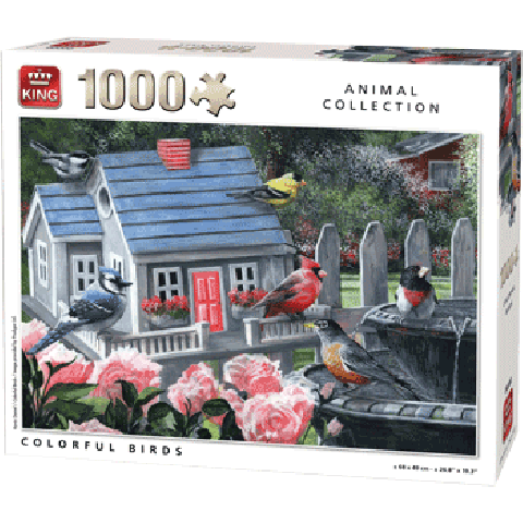 Legpuzzel COLORFUL BIRDS 1000 PCS