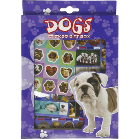 Sticker gift box Honden