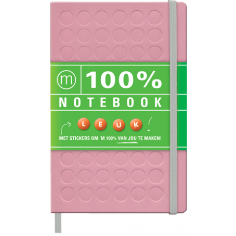 100% Notebook (Large Pink)
