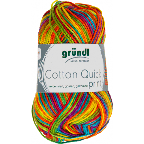 Cotton quick print carneval multicolor 50 gram