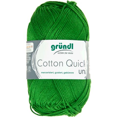 Cotton quick uni donkergroen 50 gram