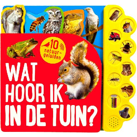 Geluidenboek Wat hoor ik in de tuin?